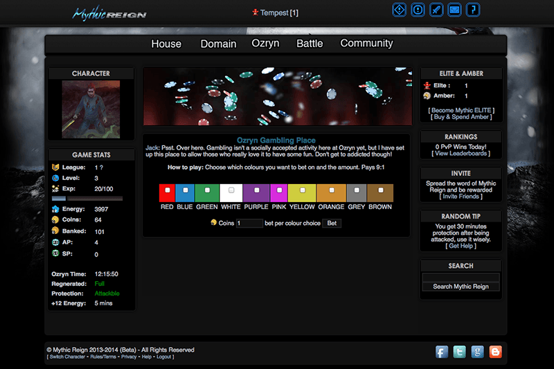 Fantasy Game Screenshot 1